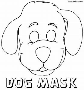 Mask coloring pages coloring pages to download and print for Dog mask template for kids