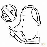 Coloring Smoking Drawing Area Cigarette Showing Supercoloring Smoke Clipart Sketch Ausmalbild Nicht Rauchen Zeigt Mann Auf Das Sheets Printable Tobacco sketch template