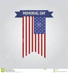 Vector Memorial Day Banner Stock Vector - Image: 90617444