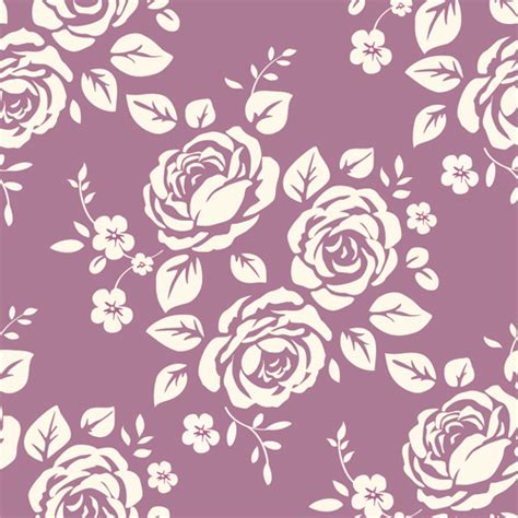 Retro flowers seamless pattern element background free ...