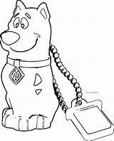 Coloring Scooby Doo Chain Wecoloringpage Cartoon sketch template