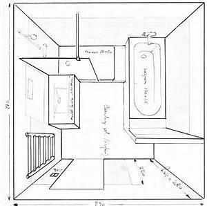 Plan Petite Salle De Bain Avec Wc : salle de bain de 6m2 baignoire douche wc recherche ~ Melissatoandfro.com Idées de Décoration