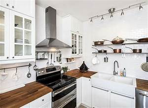 26 Small Kitchens with White Cabinets - Designing Idea