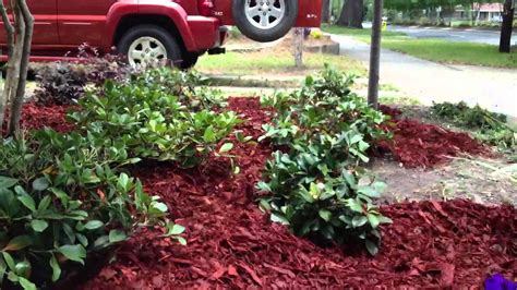 how to mulch a flower bed in 30 seconds
