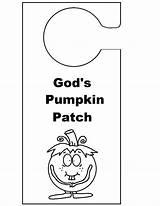 Door Knob Template God Hangers Hanger Coloring Pages Pumpkin Sunday Patch Christian Doorknob Templates Children sketch template