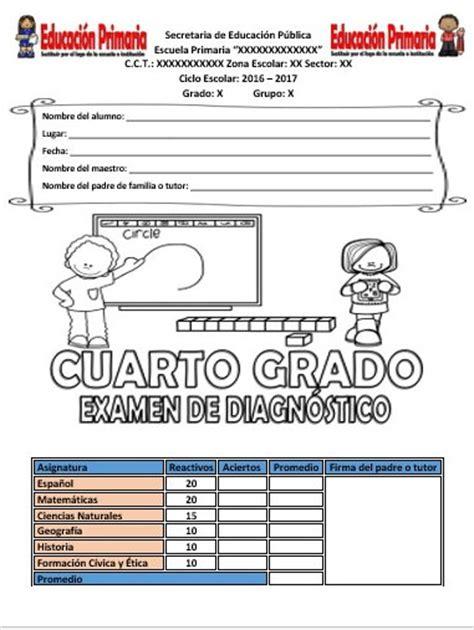 examen de primaria quinto grado gratis y actualizados examen de diagn 243 stico cuarto grado ciclo escolar