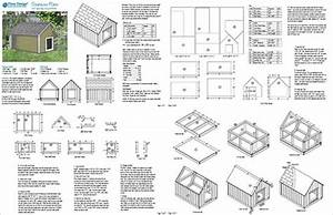 dog house plans large dog house plans gable roof style With large dog house measurements