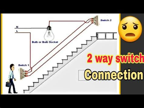 Staircase Way Light Switch Wiring Connection Youtube