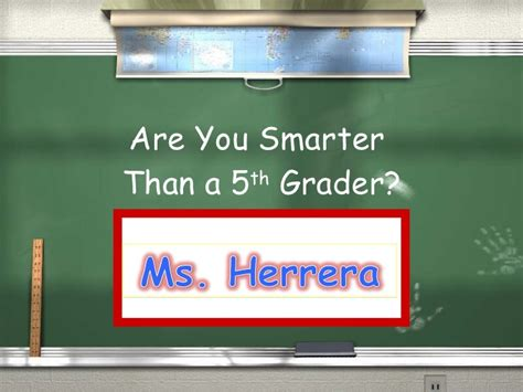 Are You Smarter Than A 5th Grader Powerpoint Template by Are You Smarter Then A 5th Grader