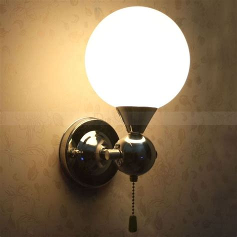 pull chain wall sconce pull chain switch chrome finish wall sconce with white