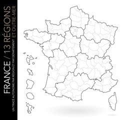 """Carte de france vierge à imprimer. Photos, illustrations et vidéos de """"départements et régions"""""""