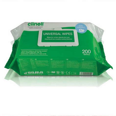clinell antibacterial wipes pack   nrs healthcare