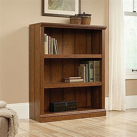 Sauder Bookcase by Sauder 416348 3 Shelf Bookcase Washington Cherry Finish
