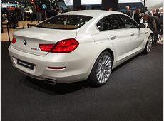 Detroit 2015 BMW 6er Gran Coupé Facelift in Frozen White
