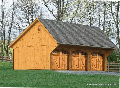 Custom Garages - 3-Car Garages, Garage Builders Homestead Structures