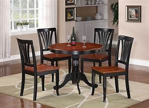 3 pc weston dinette kitchen table w 2 wood seat chairs for Round kitchen table sets