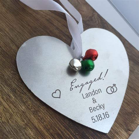 engaged ornament personalized engagement by sierrametaldesign
