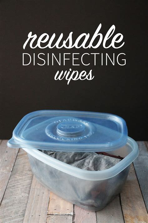 easy reusable disinfecting wipes diy  nature