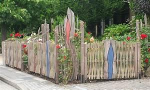Kleiner Gartenzaun Holz : bild rankrosen flechtwerk und dem jugendstil ~ Articles-book.com Haus und Dekorationen