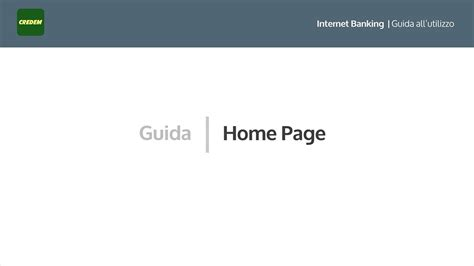 Credem On Line Banking Credem Home Page