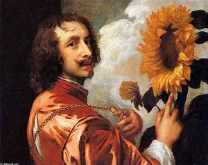 Self portrait with a Sunflower, 1632 by Anthony Van Dyck ...