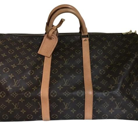 louis vuitton keepall  luggage brown monogram canvas