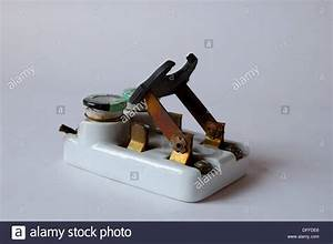 1950s Vintage Ceramic Fuse Box Electrical Circuit Breaker