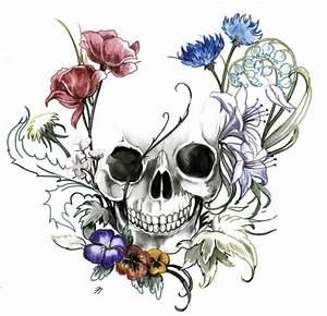 Dessin Tete De Mort Avec Rose : articles de tattoodream tagg s fleurs tattoodream ~ Melissatoandfro.com Idées de Décoration