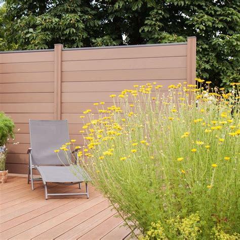 Sichtschutz Garten 180 Cm by Wpc Zaun Sichtschutz Gartenzaun Windschutz Terrasse Garten