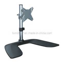 lcd tv desk mount bracket with 75x75 100x100 vesa plate