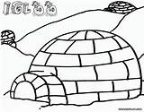 Igloo Coloring Igloo1 sketch template