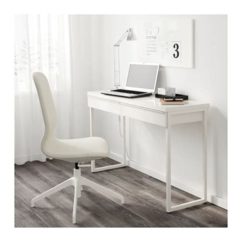 bureau console ikea ikea besta burs office desk with 2 drawers in white ebay