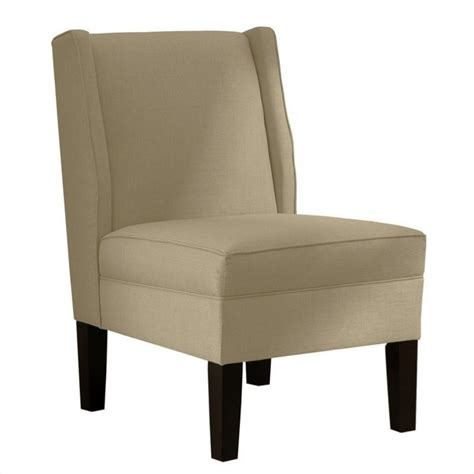 skyline furniture upholstered slipper wingback chair in
