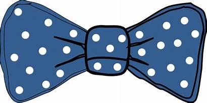 Bow Clip Tie Polka Clipart Dots Dot