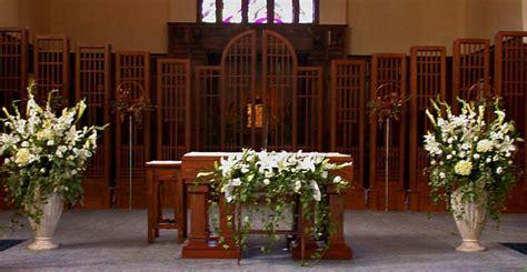 church ceremony altar wedding flower designs dahlia