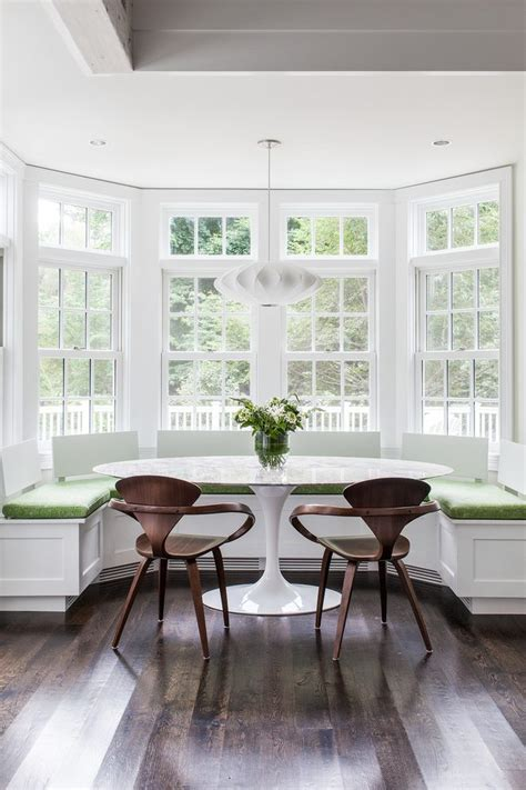 boston kitchen bay windows dining room transitional with