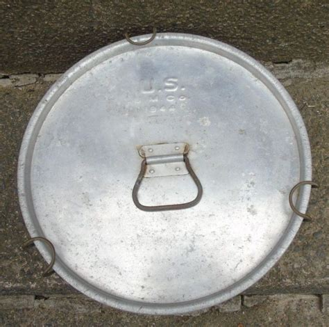 army aluminium cook pot pan  lid military     ins vintage ebay vintage