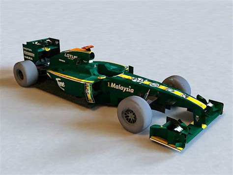 F1 Model Cars by Lotus F1 Car 3d Model Lightwave Object Files Free