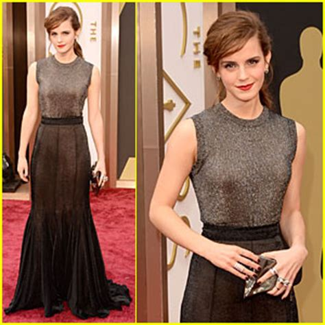 Emma Watson Rocks Metallic Oscars Red Carpet
