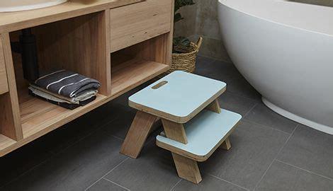 diy bathroom wooden step stool bunnings warehouse nz