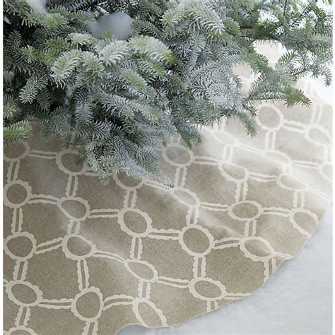 noelle ivory tree skirt in sale christmas crate and