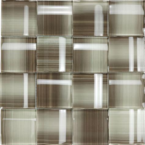 taupe light brown  glass kitchen bath wall mosaic