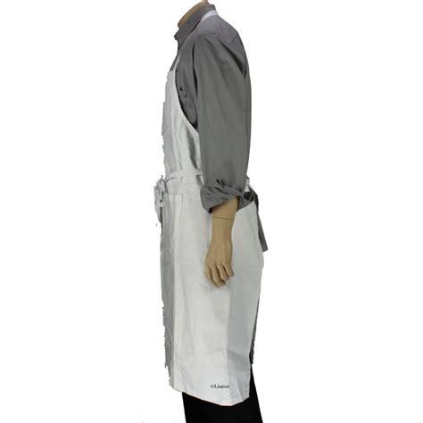 tablier professionnel cuisine tablier professionnel avec bavette blanc coton lisavet