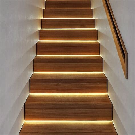 led lighting stairs a much more modern look than