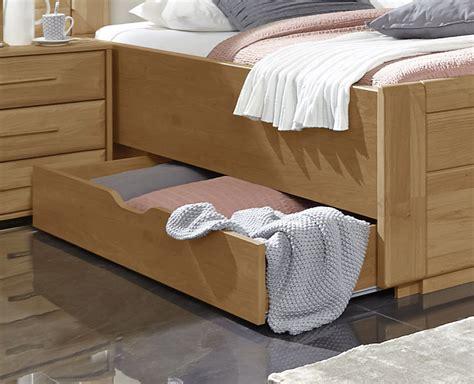 Doppelbett Mit Schubladen In Erle Teilmassiv
