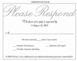rsvp39s and those who used quotnumber of seats reserved in With wedding invitation rsvp language