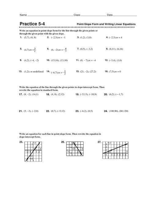 point slope form worksheet doc equation puzzles and