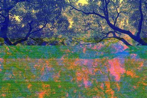 abstract glitch art photographs