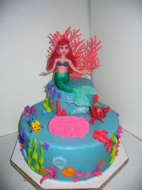 mermaid cake  tier cake    year  girl