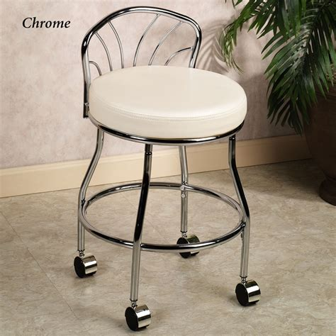 Swivel Vanity Chair With Wheels by Flare Back Vanity Chair Vanities Vanity